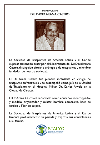 in memoriam Dr. David Arana