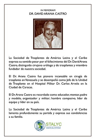 in memoriam Dr. David Arana